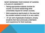 what increases your chance of gaining a place at university1