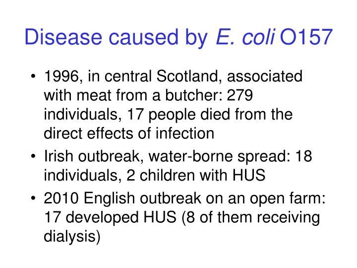 Disease caused by