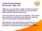 josiah charles stamp economist 1880 1941