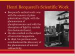 henri becquerel s scientific work