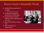 pierre curie s scientific work