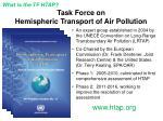 task force on hemispheric transport of air pollution