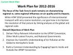 work plan for 2012 2016