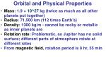 orbital and physical properties