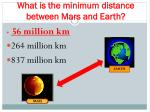 what is the minimum distance between mars and earth1