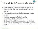 jewish beliefs about the devil