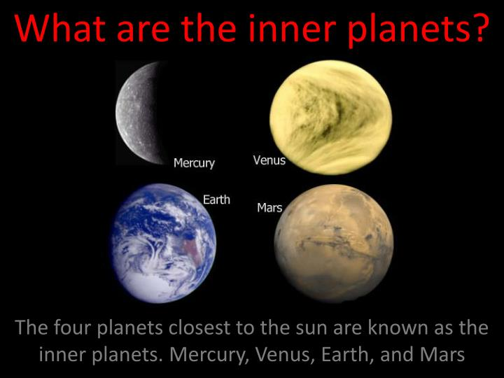 what are the inner planets n.