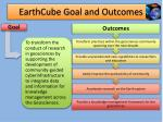 earthcube goal and outcomes