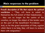 main responses to the problem4