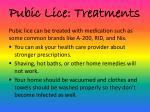 pubic lice treatments