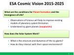 esa cosmic vision 2015 2025