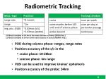 radiometric tracking
