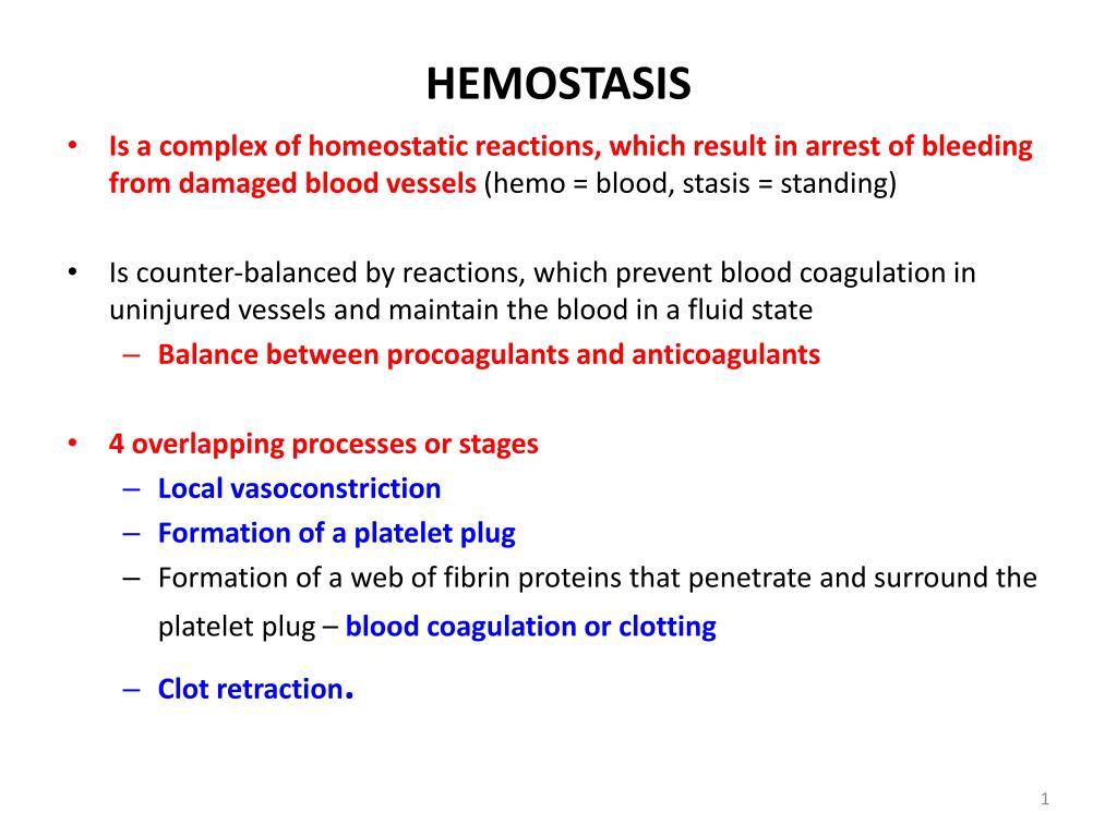 Hemostasis ppt |authorstream.
