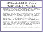 similarities in body form and function1