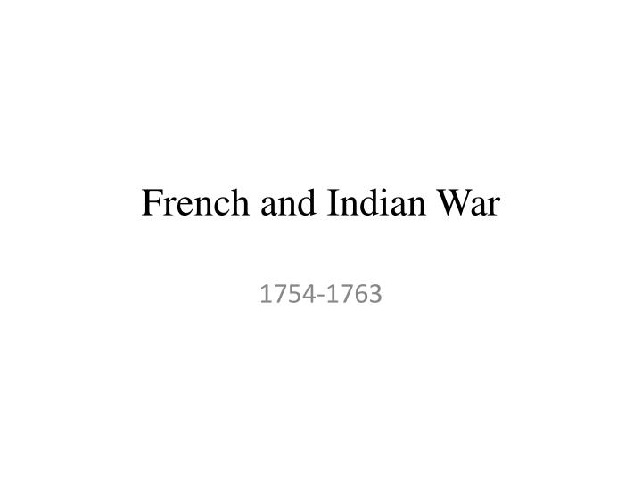 french and indian war n.