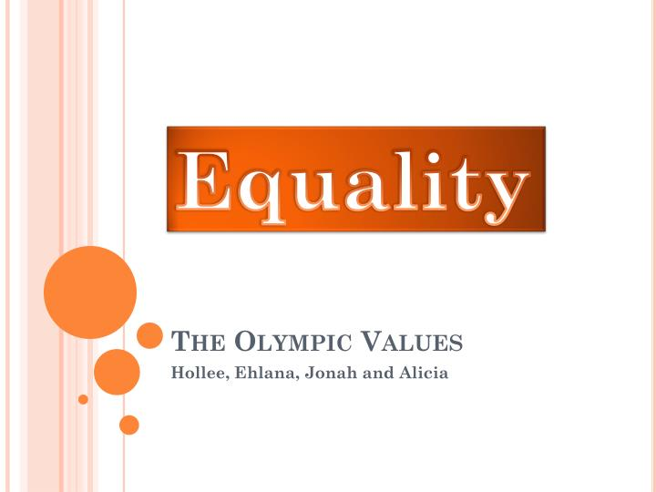 the olympic values n.