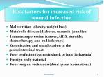 risk factors for increased risk of wound infection