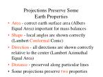 projections preserve some earth properties