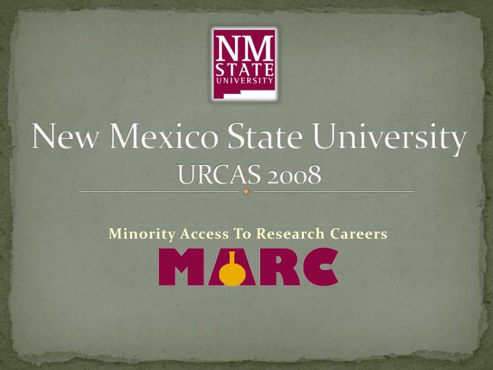 new mexico state university urcas 2008 n.