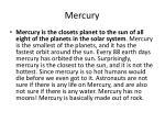 m ercury