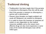 traditional thinking