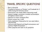 travel specific questions