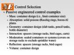 control selection