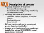description of process