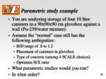 parametric study example