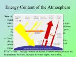 energy content of the atmosphere