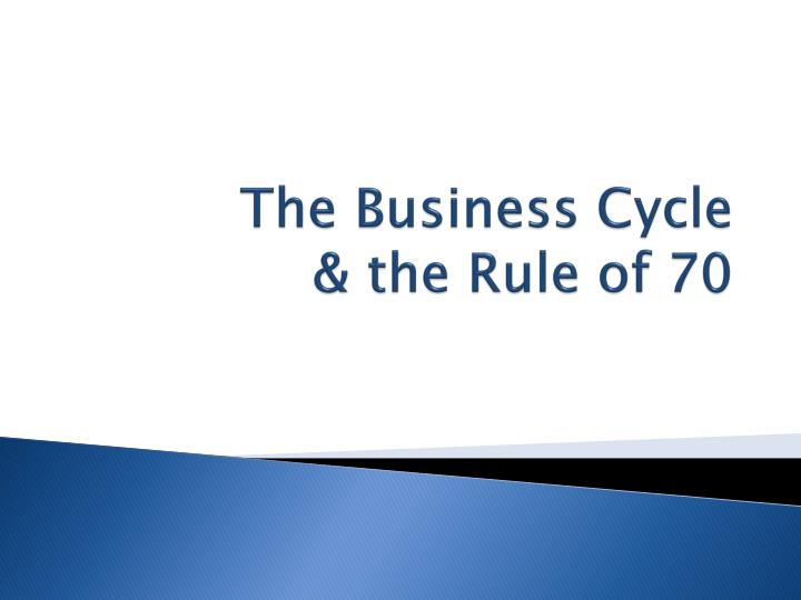 the business cycle the rule of 70 n.