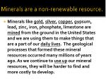 minerals are a non renewable resource