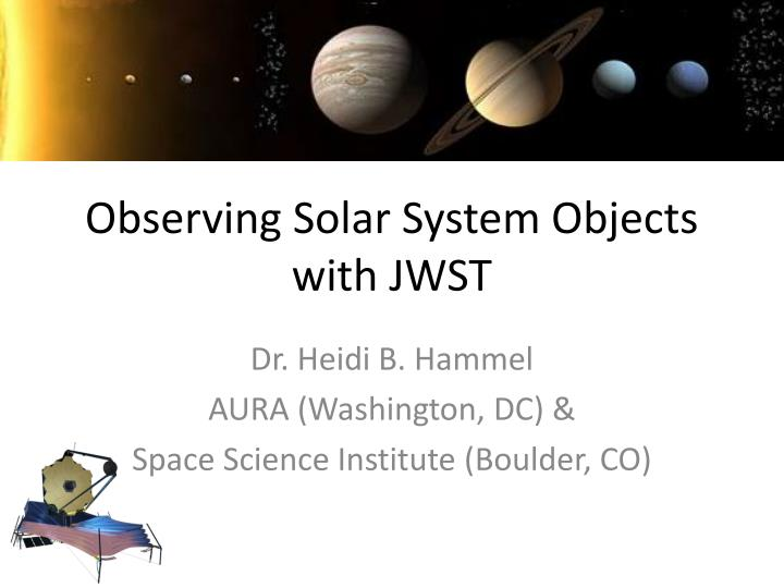 observing solar system objects with jwst n.