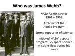 who was james webb