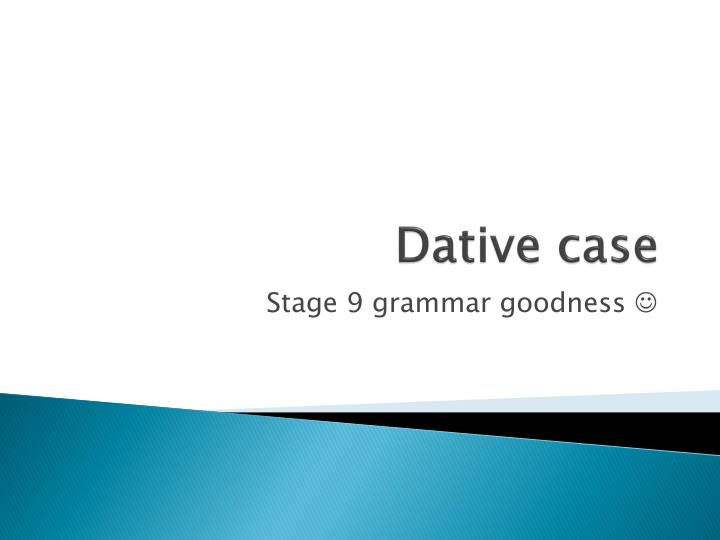 dative case n.