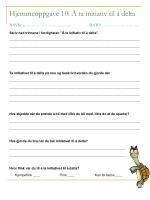 hjemmeoppgave 10 ta initiativ til delta navn dato