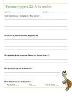 hjemmeoppgave 22 be om lov navn dato