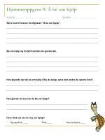 hjemmeoppgave 9 be om hjelp navn dato