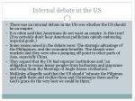 internal debate in the us