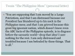 twain the philippine mess personal letter
