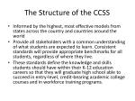 the structure of the ccss