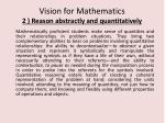 vision for mathematics 2 reason abstractly and quantitatively