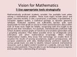 vision for mathematics 5 use appropriate tools strategically