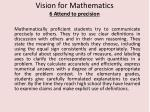 vision for mathematics 6 attend to precision