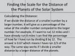 finding the scale for the distance of the planets of the solar system3
