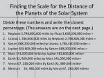 finding the scale for the distance of the planets of the solar system4