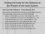finding the scale for the distance of the planets of the solar system5