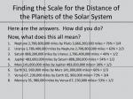 finding the scale for the distance of the planets of the solar system6