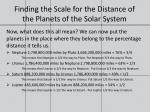 finding the scale for the distance of the planets of the solar system7