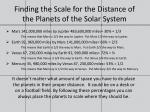 finding the scale for the distance of the planets of the solar system8